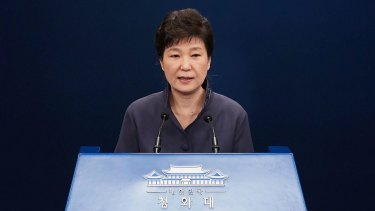 Engulfed in crisis: South Korea's President Park Geun-Hye.