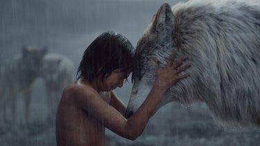 Neel Sethi as Mowgli in <i>The Jungle Book</i>.