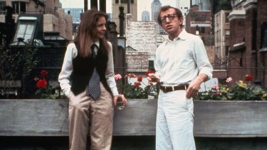 With Woody Allen in Annie Hall.