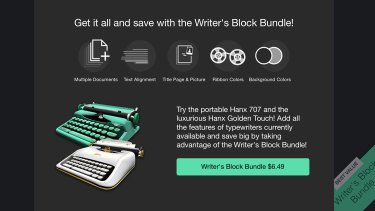Though free to download, some of the features in Hanx Writer do require a purchase.