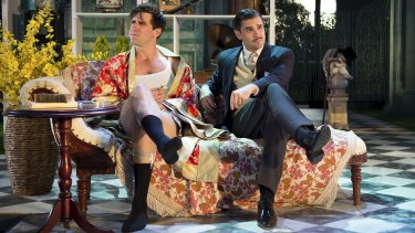 Aaron Tsindos (left) and Scott Sheridan in <i>The Importance of Being Earnest.</i>