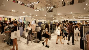 H&M's flagship store has opened in Pitt Street Mall.