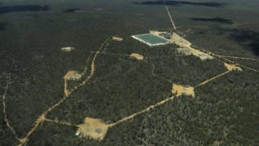 Part of the Narrabri gas project in the Pilliga State Forest.