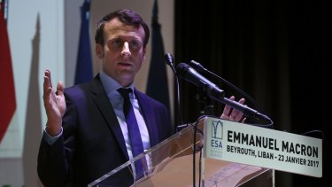 French presidential candidate and former French Economy Minister Emmanuel Macron.