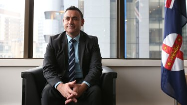 Skills Minister John Barilaro is understood to be doing the numbers on a possible challenge to Troy Grant.