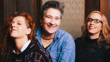 From left, Neko Case, k.d. lang and Laura Veirs of Case/lang/Veirs. Making an album together was, says lang ''very, very difficult at times''.