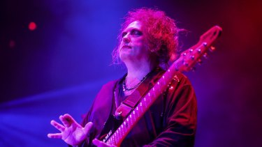 Robert Smith of the Cure at Rod Laver Arena.