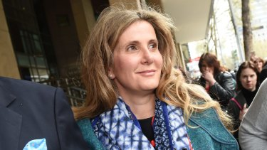 Kathy Jackson outside Melbourne Magistrates Court last year.