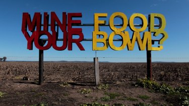 Liverpool Plains farmer Andrew Pursehouse was not impressed by plans to mine in his region.