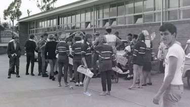 Muck up day at Cumberland High in 1967.