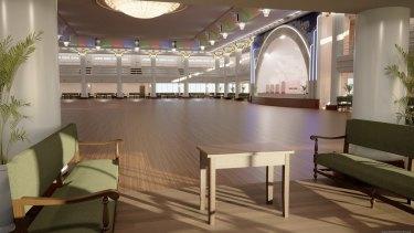 The digital recreation of Cloudland Ballroom in Brisbane.