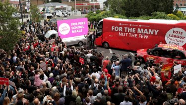 Jeremy Corbyn's rallies drew thousands of supporters as he took his message straight to the people.
