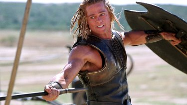 Brad Pitt stars as Achilles in a scene from the 2004 film Troy.