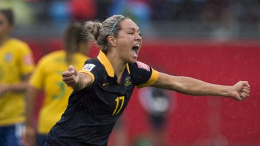 Magic moment: Can Kyah Simon be the hero again as she was against Brazil?
