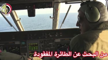 Egyptian authorities search the Mediterranean Sea for the missing EgyptAir flight 804.
