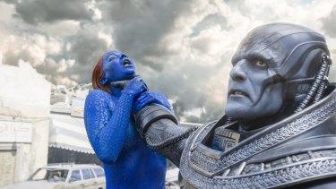 Mystique (Jennifer Lawrence) is caught between her loyalties.