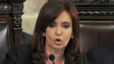 Cristina Fernandez de Kirchner, then president of Argentina, in 2011.
