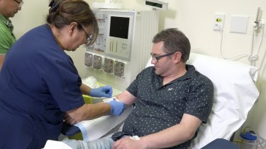 Haemophilia B patient Mark Lee was dependent on up to three infusions every week to prevent excessive bleeding.