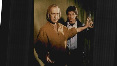 David Carradine (left) as Kwai Chang Caine and Chris Potter as David Caine in Kung Fu: The Legend Continues