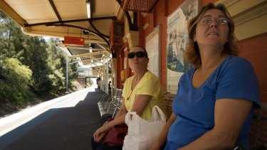 "Sandra Duncombe (left) and friend Mandy Madden (right) both from Birrong said they felt they were ""forgotten about"" in the government's plan for a metro line."