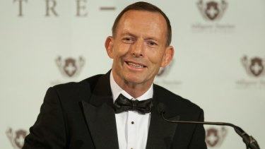 Tony Abbott delivers the Margaret Thatcher Lecture in London on Tuesday.