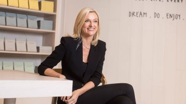 Demand for designer stationery boosted  sales at Kristina Karlsson's Kikki K by 28 per cent in 2015.