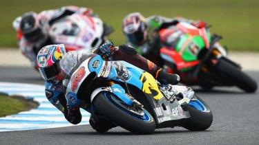 Jack Miller takes a corner in the Australian MotoGP at Phillip Island