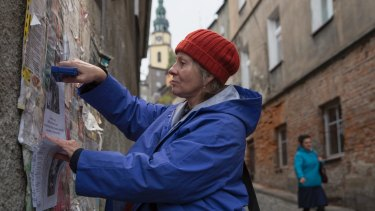 Agnieszka Mandat-Grabka plays Janina, a retired Communist-era engineer in Spoor, in the Polish Film Festival.