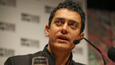 Aamir  Khan in Melbourne in 2010.