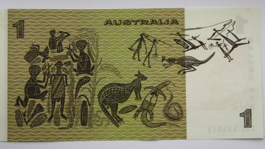 The Australian $1 note features Aboriginal artwork, including a painting by David Malangi.