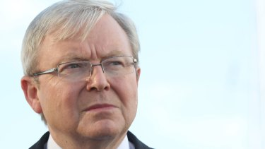 Kevin Rudd was scathing about Donald Trump.