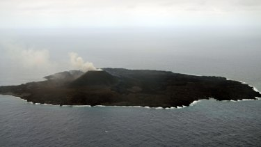 The volcano that formed Nishinoshima island is still active.