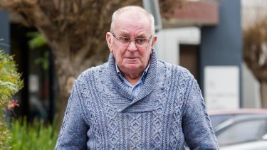 Greyhound trainer Anthony Mills at Frankston Magistrates Court on Monday.