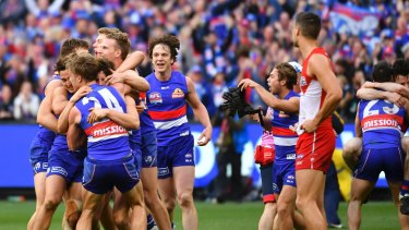 Many Bulldogs fans missed out on seeing their beloved club win its first flag in 60 years.