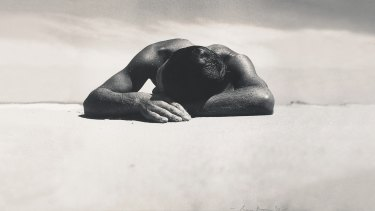 The original <i>Sunbaker</i> by Max Dupain, taken in 1937.