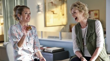 Maggie Lawson and Jane Lynch in Angel from Hell.