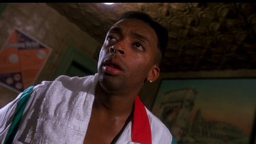 Lee as Mookie in 1989's <I>Do The Right Thing</I>.
