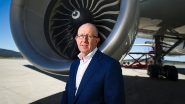 Airport chief Stephen Byron, who wrote to airlines offering a cash payment to keep cancellation rates down.