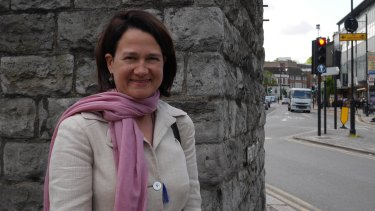 Catherine West, a Labour MP who migrated from Australia, in her London constituency.