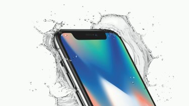 'The notch' that houses the Face ID sensors is the only part of the front of the iPhone X not covered in screen.