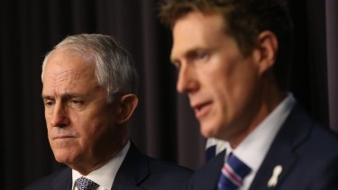 Social Services Minister Christian Porter, pictured with Prime Minister Malcolm Turnbull, has conceded the Coalition will not be able to pass its changes to the PPL scheme before the upcoming election.