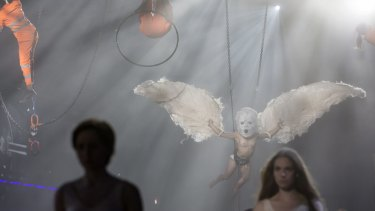 Artists perform during the opening day of the Gotthard rail tunnel, the longest tunnel in the world.