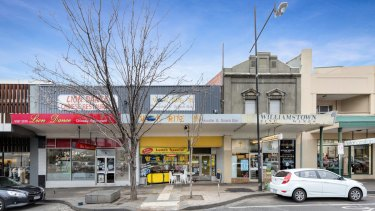 Three adjoining shops at 5, 7 & 9 Ferguson Street in Williamstown sold for $4.225 million on a land rate of $11,266 per sqm and a tight 3.4 per cent yield.