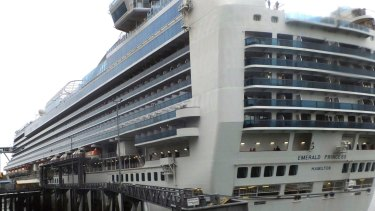 The Emerald Princess cruise ship was docked in Juneau, Alaska, while the FBI invesetigated.