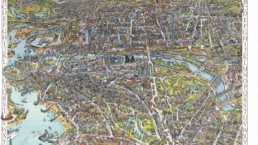 Detail from the Melbourne Map, 1991.