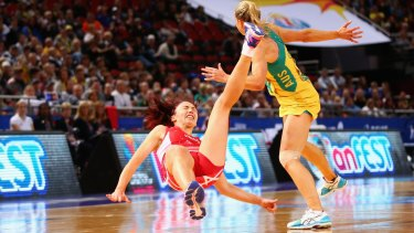 Few complaints: The netball superpowers have been in the spotlight from the start.