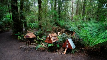 Find fairy houses among the trees at Magic at Otway Fly.