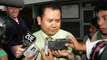 Prepared to 'take the heat' for Chan and Sukumaran: Mohamad Rifan leaves Kerobokan Prison in 2006.