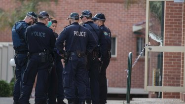 Police raid a home in Lakemba on July 30 over an alleged plot to bring down a plane.
