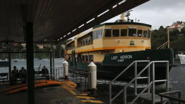 The Lady Herron has been tied up at the Balmain shipyard for the past two weeks.